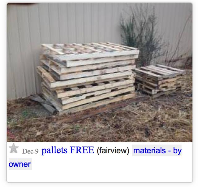 Pallets in Craigslist